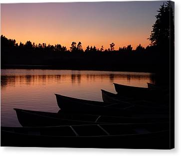 Canvas Print featuring the photograph Silence Of Lake Bradley Reflections by Cindy Wright