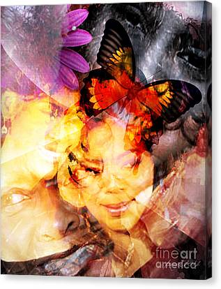 Silent Butterfly Canvas Print