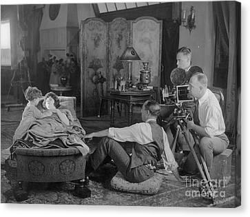 Silent Film Set, 1920s Canvas Print by Granger