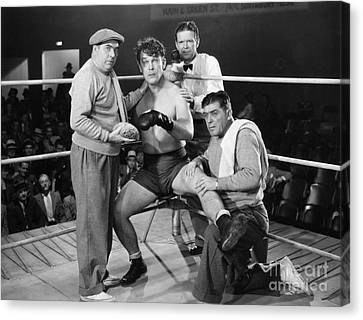 Silent Film Still: Boxing Canvas Print by Granger