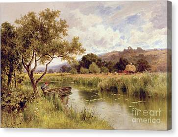 Silent Stream Canvas Print by Henry Parker