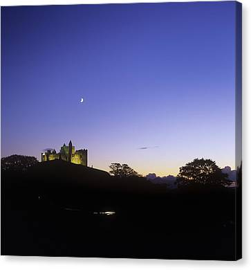 Silhouette Of A Castle On The Cliff Of Canvas Print by The Irish Image Collection