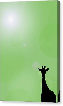 Computer Graphics Canvas Print - Silhouette Of A Giraffe by Chris Knorr