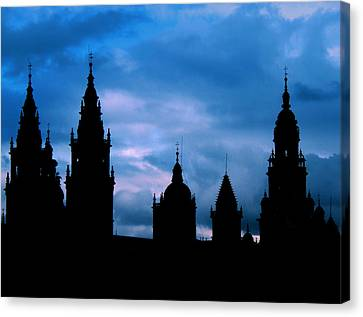 Silhouette Of Spanish Church Canvas Print by Jasna Buncic