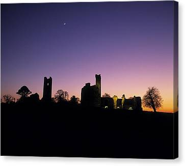 Silhouette Of St. Patricks Church And A Canvas Print by The Irish Image Collection