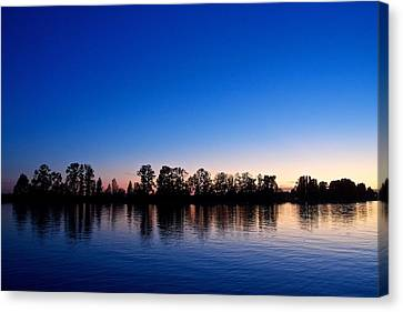 Canvas Print featuring the photograph Silhouette Tree Line by Scott Holmes