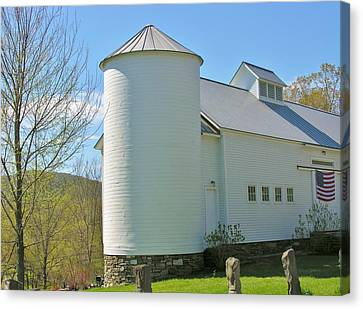 Canvas Print featuring the photograph Vermont Silo And Barn  by Sherman Perry