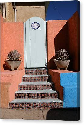 Silver City Doorway Canvas Print by FeVa  Fotos