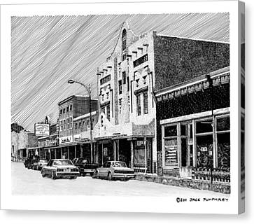 Silver City New Mexico Canvas Print by Jack Pumphrey