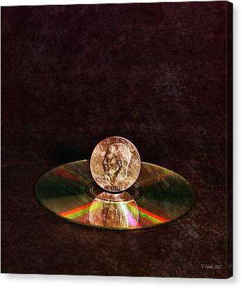 Disk Canvas Print - Silver Dollar by Peter Chilelli