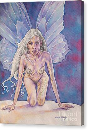 Silver Fay Canvas Print by Diana Shively