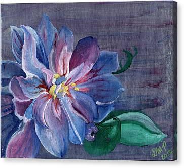Silver Flower Canvas Print