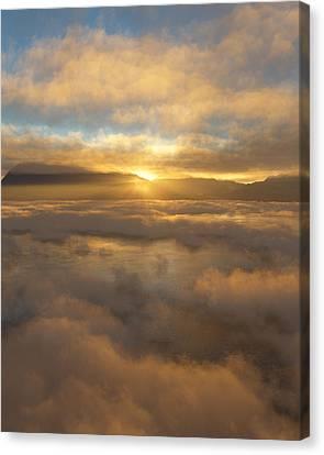 Silver Lake Sunrise Canvas Print by Mark Greenberg