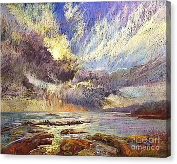Silver Lining Canvas Print by Pamela Pretty
