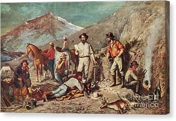 Silver Mining Canvas Print