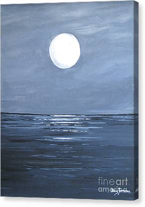 Silver Moon Canvas Print by Stacey Zimmerman