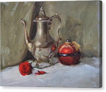 Silver Tea Pot Canvas Print