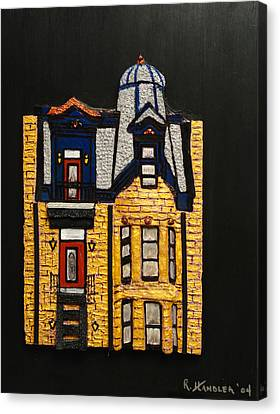 Silver Victorian Mansion-montreal Canvas Print by Robert Handler