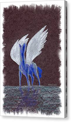 Silver Wings Canvas Print by Mark Schutter