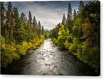 Canvas Print featuring the photograph Simms Road by Randy Wood