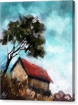 Kiran Kumar Canvas Print - Simple Landscape  by Kiran Kumar
