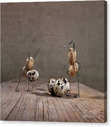 Quail Canvas Print - Simple Things Easter 02 by Nailia Schwarz