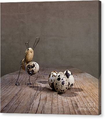 Quail Canvas Print - Simple Things Easter 03 by Nailia Schwarz