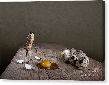 Quail Canvas Print - Simple Things Easter 05 by Nailia Schwarz