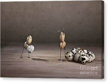 Quail Canvas Print - Simple Things Easter 09 by Nailia Schwarz