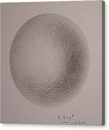 Canvas Print featuring the drawing Simply A Ball by Roena King