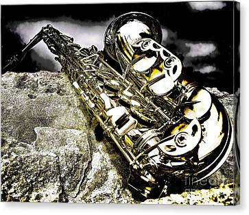 Simply Sax Canvas Print by Jason Abando