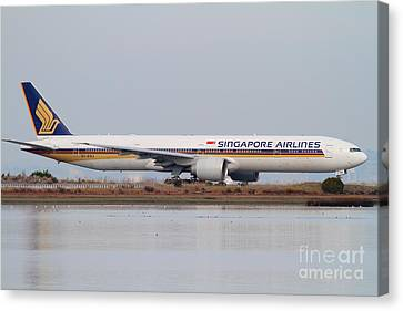 Singapore Airlines Jet Airplane At San Francisco International Airport Sfo . 7d12142 Canvas Print by Wingsdomain Art and Photography
