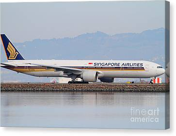 Singapore Airlines Jet Airplane At San Francisco International Airport Sfo . 7d12145 Canvas Print by Wingsdomain Art and Photography