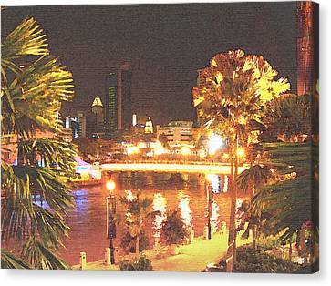 Singapore Night Canvas Print by Steve Huang