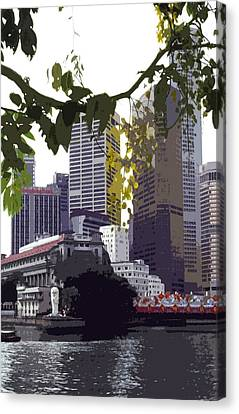 Singapore ... The Lion City  Canvas Print by Juergen Weiss