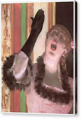 Singer With A Glove Canvas Print by Edgar Degas