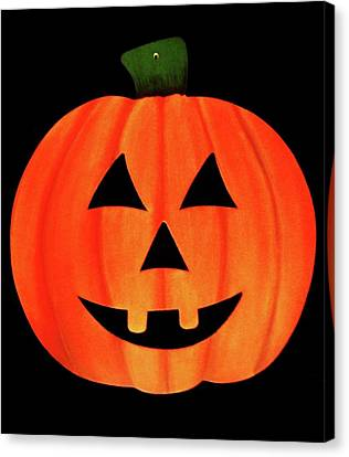 Single Smiling Jack-o'-lantern Canvas Print