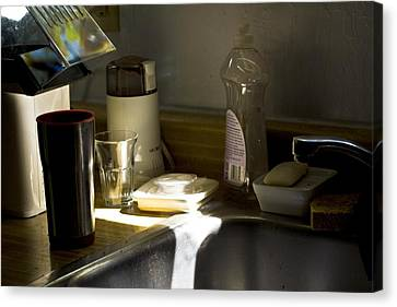 Sink After Roasting Coffee Canvas Print by Larry Darnell