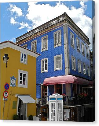Canvas Print featuring the photograph Sintra Portugal Buildings by Kirsten Giving