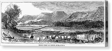 Sioux War: Tongue River Canvas Print by Granger