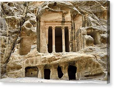 Siq Al-barid (little Petra), Jordan Canvas Print by Marco Brivio
