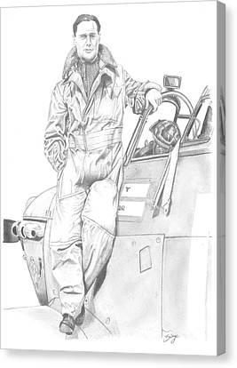 Douglas Bader Canvas Print - Sir Douglas Bader by Richard Savage