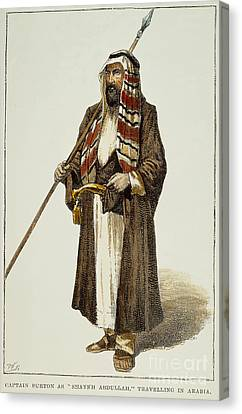 Sir Richard Francis Burton Canvas Print by Granger