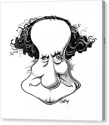 Sir Richard Owen, Caricature Canvas Print by Gary Brown