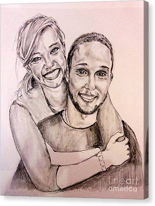 Sister And Brother Canvas Print by Amanda Dinan