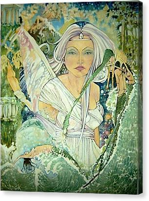 Angel Mermaids Ocean Canvas Print - Sister Angel by Jackie Rock