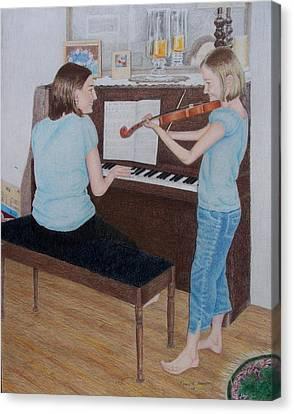 Sisters Canvas Print by Karen Brannon