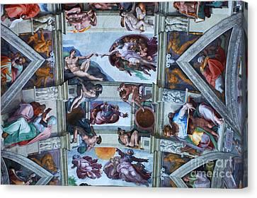 Sistine Chapel Ceiling Canvas Print by Bob Christopher