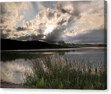 Sit Back...relax Canvas Print by Cindy Haggerty
