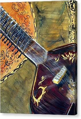 Sitar 2 Canvas Print by Amanda Dinan